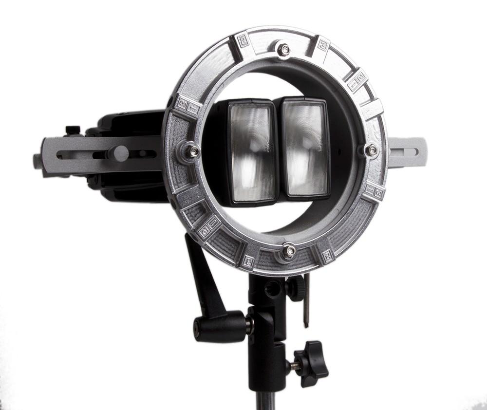 LumoPro LP739 Double Flash Speedring Bracket