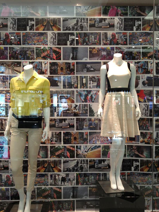 The DKNY storefront display in Bangkok that caused the controversy
