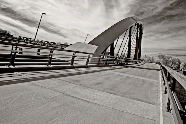 """E. Main St. Bridge"" by Aaron Sheldon. Shot with IR-converted Canon Rebel T3i."