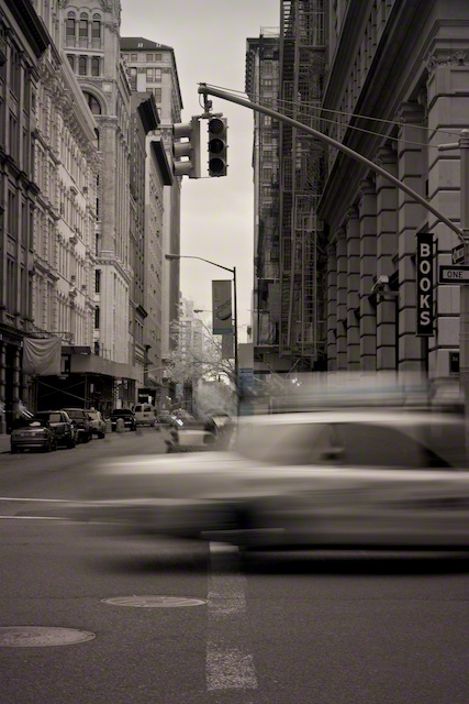 """Hey, Taxi!"" by Aaron Sheldon. Shot with IR-converted Canon 50D."