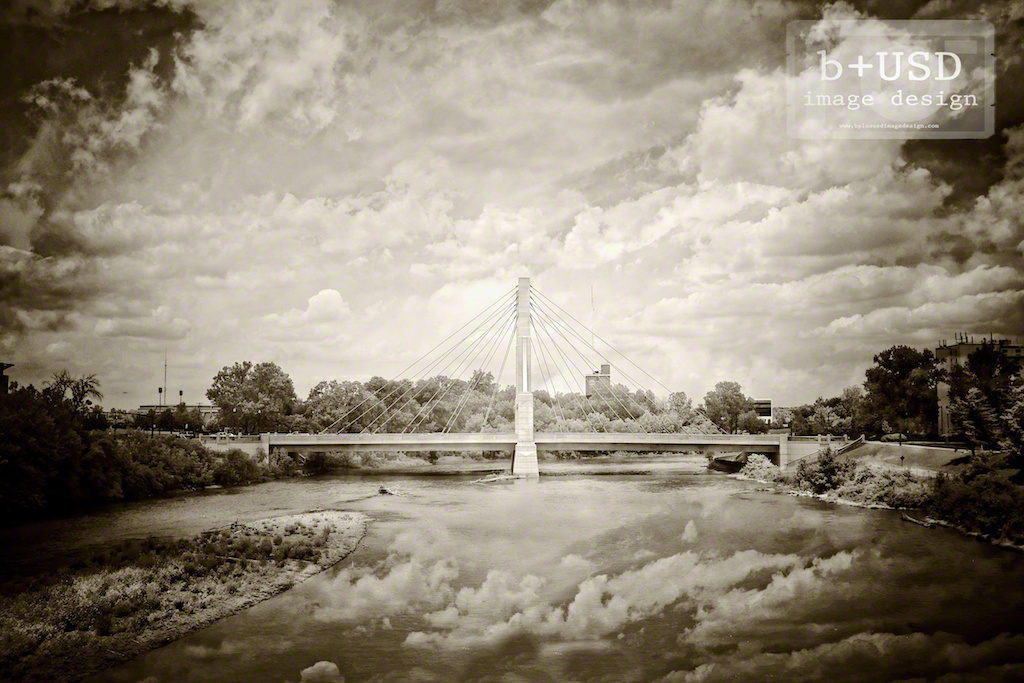 """Lane Ave. Bridge"" by Aaron Sheldon. Shot with Fujifilm X100S w/ Cokin P.007 External IR Filter."