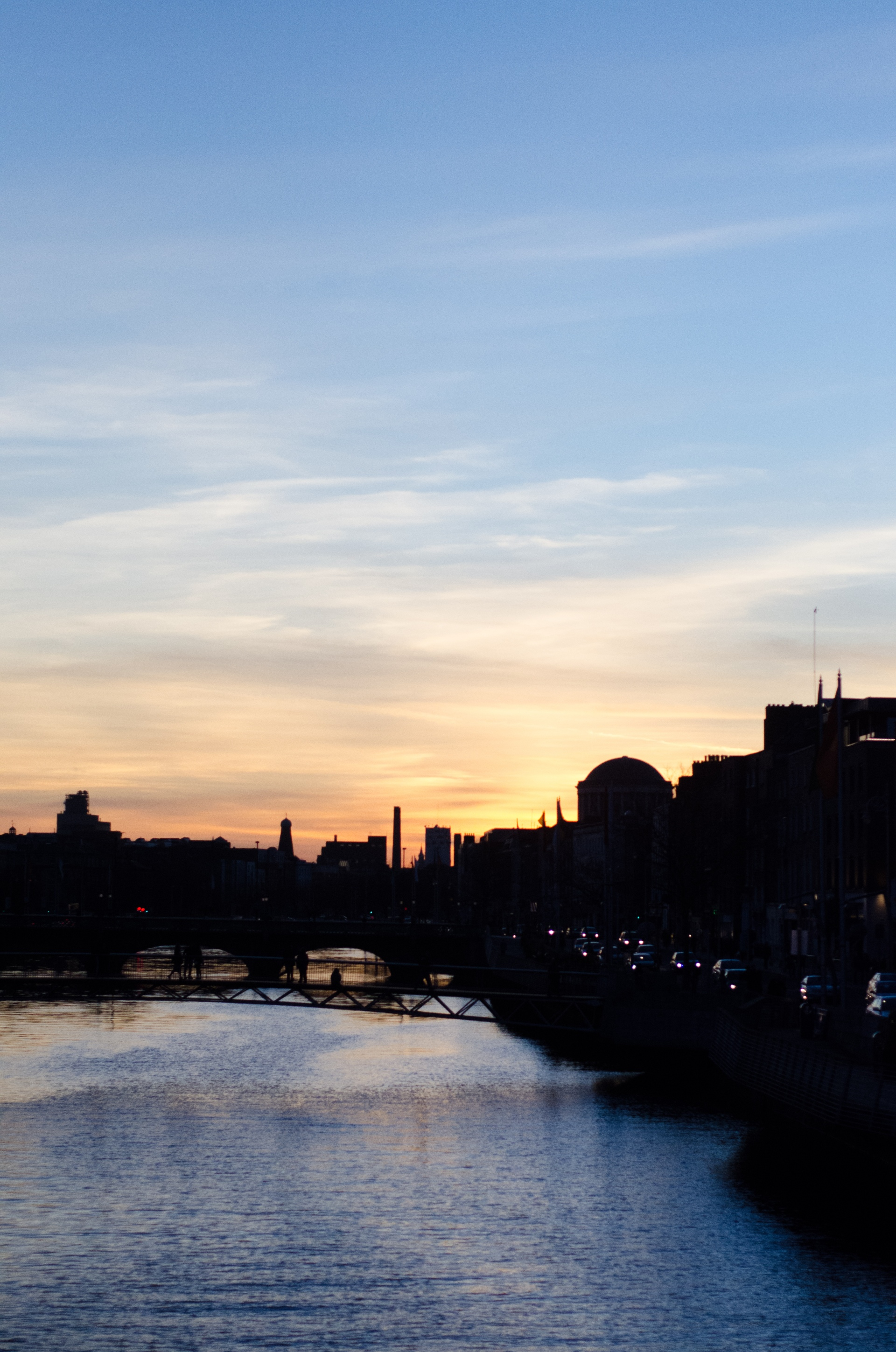 The River Liffey at sunset.