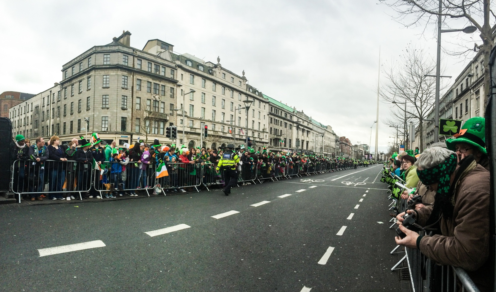 The City Center. I surprisingly got this shot from the iPhone 5s panoramic setting before the parade kicked off and was pleasantly surprised with the results.