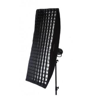 LumoPro 16x48 Stripbox with LumoPro Grid