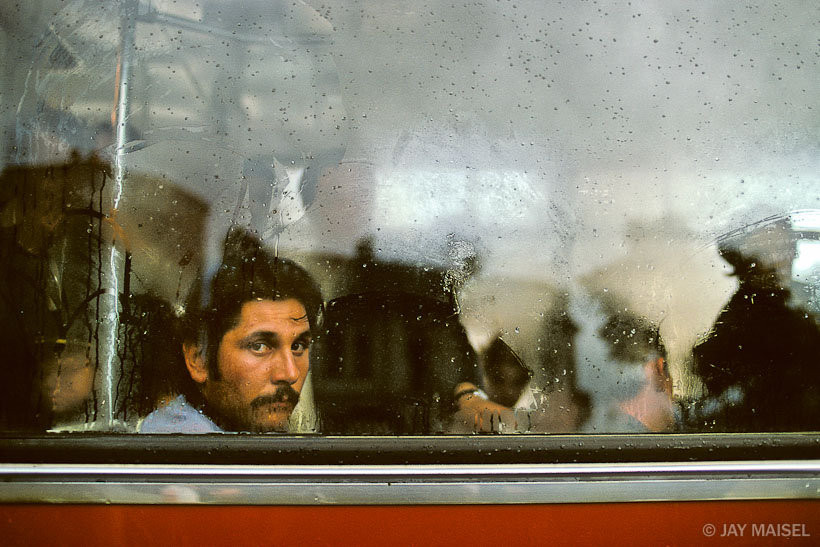 Man in Bus. Bucharest, Romania. By Jay Maisel