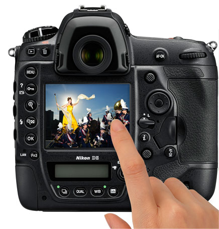 The New Nikon D5 features a touch screeen and 4K video.