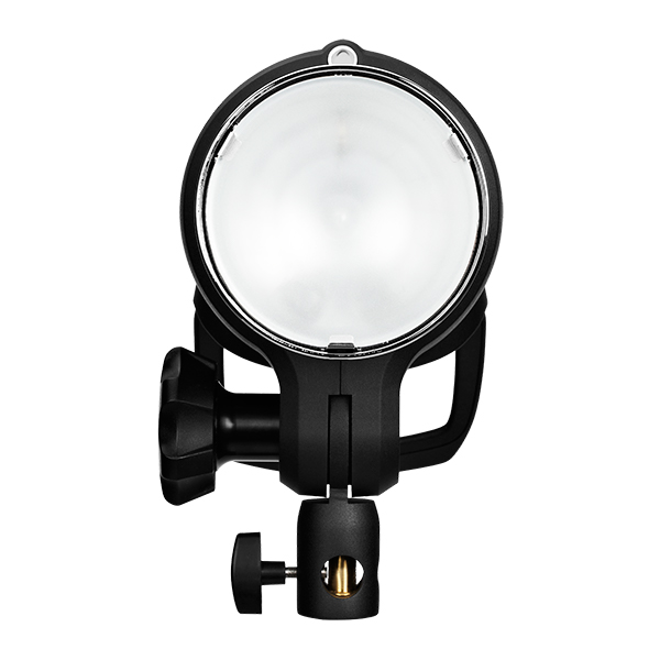 The front of the Profoto D2. 77 Degree built-in reflector and opal protective glass.