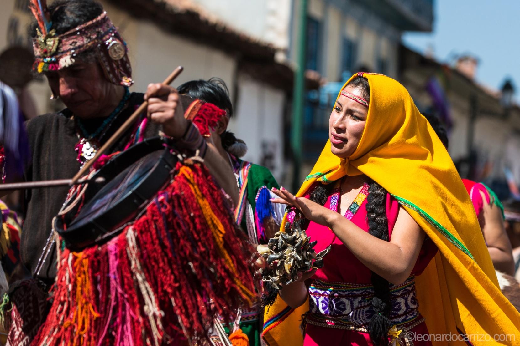 Inti-Raymi celebration, Cusco, Peru. photo by Leonardo Carrizo