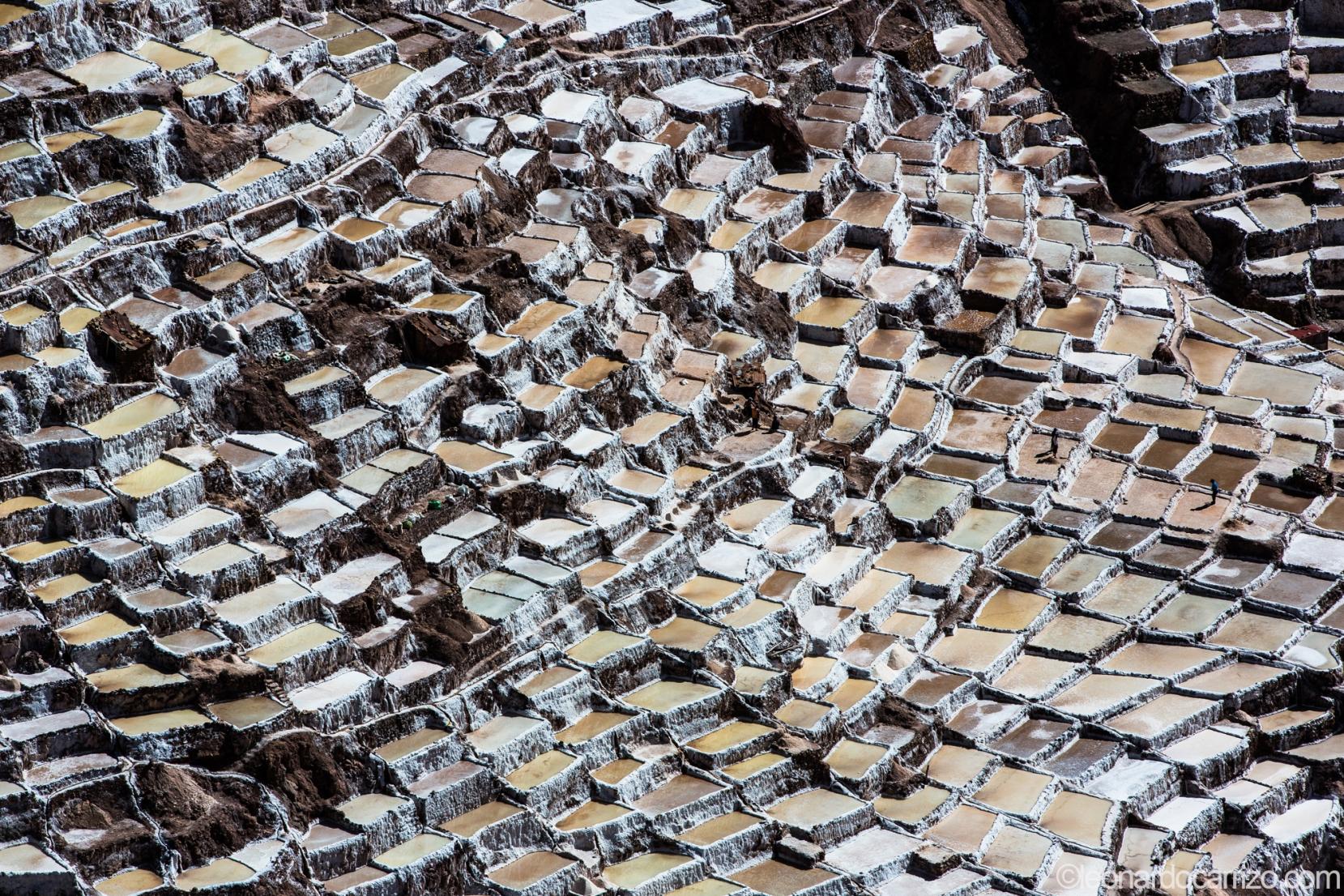 Inca salt mines in Maras, Sacred Valley, Peru. photo by Leonardo Carrizo