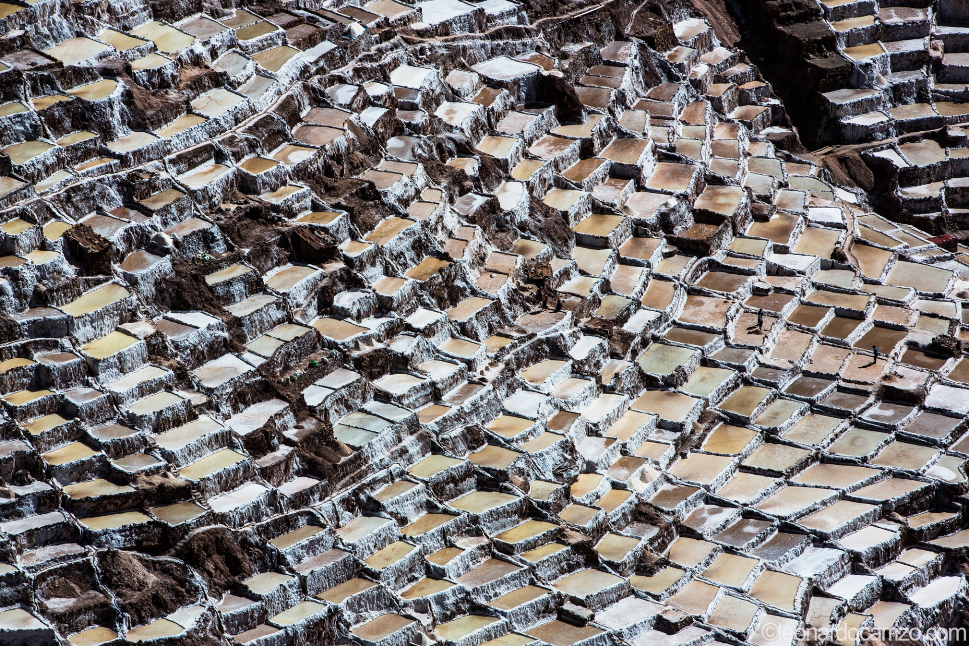 Inca salt mines in Maras, Sacred Valley, Peru. photo by Leonardo Carrizo